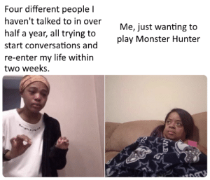 THIS PFFEBITCHI PLEASE MONSTER HUNTER YOU HAVENT EXPERIENCED