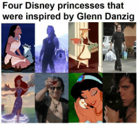Four Disney princesses that  were inspired by Glenn Danzig Colin Brennan!  #danzigmemes #disneyprincess #disney