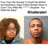 "Children, Complex, and Dad: Four-Year-Old Abused To Death By Mother  and Boyfriend; Angry Father Breaks Down In  Court ""You Killed My Daughter. You  Killed My Baby""  @balleralert  03/13/20 Four-Year-Old Abused To Death By Mother and Boyfriend; Angry Father Breaks Down In Court ""You Killed My ******* Daughter. You Killed My Baby"" -blogged by @peachkyss (swipe) ⠀⠀⠀⠀⠀⠀⠀ ⠀⠀⠀⠀⠀⠀⠀ On Sunday, police were called to an Euclid, Ohio apartment complex after receiving a 911-call that 4-year-old Aniya Day Garrett was unresponsive. ⠀⠀⠀⠀⠀⠀⠀ ⠀⠀⠀⠀⠀⠀⠀ Garrett was pronounced dead at the hospital. Euclid hospital reported her death as a suspected homicide and the medical examiner's office confirmed the manner of death as a homicide. ⠀⠀⠀⠀⠀⠀⠀ ⠀⠀⠀⠀⠀⠀⠀ Aniya's mother, Sierra Day, and her boyfriend Deonte Lewis were charged with aggravated murder in the death of the toddler. ⠀⠀⠀⠀⠀⠀⠀ ⠀⠀⠀⠀⠀⠀⠀ On Tuesday morning, Aniya's father came face to face with two the people that took his daughter away from him. In the courtroom, Mickhal Garrett screamed, ""You killed my **** daughter. You hurt my baby."" ⠀⠀⠀⠀⠀⠀⠀ ⠀⠀⠀⠀⠀⠀⠀ Mickhal was in the process stage of emergency custody of his daughter due to suspicions of his daughter being abused. ""I did everything in my power to let them know that I was a stand-up dad and that my daughter was being harmed and abused at home and this was an emergency."" ⠀⠀⠀⠀⠀⠀⠀ ⠀⠀⠀⠀⠀⠀⠀ ⠀⠀⠀⠀⠀⠀⠀ Children and Family Services stated that they conducted three investigations into Aniya's case and that there is an open case right now. ⠀⠀⠀⠀⠀⠀⠀ ⠀⠀⠀⠀⠀⠀⠀ Aniya's teacher also stated that she filed reports of suspected abuse of Aniya on a number of occasions and that the child told her that ""mommy hit me."" ⠀⠀⠀⠀⠀⠀⠀ ⠀⠀⠀⠀⠀⠀⠀ The suspects are being held on a $1-million bond each."