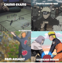 Love, Memes, and Naruto: FOURTH SHINOBI WAR  IG/@nARUTO,KUuno  PAIn ASSAULT  KAZeKAGe Rescue qotd : which arc is your favorite? aotd : the chunin exams was the best i love tournament type of arcs ⠀ ⠀ ⠀⠀⠀⠀⠀ Put narutokunig in your post for ⠀⠀⠀⠀⠀ ⠀⠀⠀⠀⠀⠀⠀ chance ⠀⠀⠀⠀⠀⠀⠀to win shoutout from me😁
