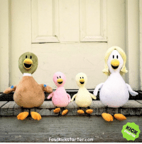 One or all of these cuddly plushies could be waiting on your porch soon if you back my Kickstarter project! So thankful for those who have participated - while we just passed our 45K stretch goal, there's still lots of great bonuses to earn at FowlKickstarter.com !: Fowlkickstarter.com One or all of these cuddly plushies could be waiting on your porch soon if you back my Kickstarter project! So thankful for those who have participated - while we just passed our 45K stretch goal, there's still lots of great bonuses to earn at FowlKickstarter.com !