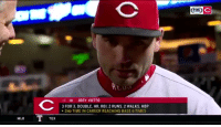 Memes, Mlb, and Best: FOX  19 1B JOEY VOTTO  3 FOR 3, DOUBLE, HR, RBI, 2 RUNS, 2 WALKS, HBP  2ND TIME IN CAREER REACHING BASE 6 TIMES  MLB  TEX Joey Votto is the best https://t.co/lu27I24uOj