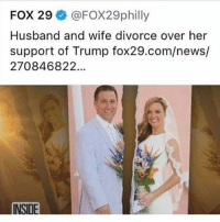 America, Feminism, and Friends: FOX 29 @FOX29philly  Husband and wife divorce over her  support of Trump fox29.com/news/  270846822.  INSIDE This is terrible omg @guns_are_fun_💐 - Follow my backup - 🇺🇸 @americanalice 🇺🇸 ✨Tags your friends ✨ - - ❤️🇺🇸🙏🏻 politicians racist gop conservative republican liberal democrat libertarian Trump christian feminism atheism Sanders Clinton America patriot muslim bible religion quran lgbt government BLM abortion traditional capitalism makeamericagreatagain maga president