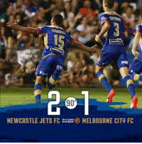 Memes, Jets, and 🤖: FOX  90'  NEWCASTLE JETS FC  A LEAGUE  MELBOURNE CITV FC  HYunDA Bruno Fornaroli found the net, but two from Andrew Nabbout the Uruguayan simply could not outdo!   What a huge three points for the Club in Coffs Harbour!