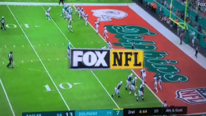 THE DOLPHINS JUST RAN THE GREATEST PLAY EVER  https://t.co/oOAJOWUShy: FOX  FOX NFL  4th& Goal  10  4:44  2-9 7  2nd  DOLPHINS  5-6 13  FACLES THE DOLPHINS JUST RAN THE GREATEST PLAY EVER  https://t.co/oOAJOWUShy