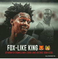 """LeBron James, Andre Iguodala, and Chase: FOX-LIKE KING  DE'AARON FOX CHANNELS INNER LEBRON JAMES ON CHASE-DOWN BLOCK  CLUTCHPOINTS Hope Andre Iguodala wasn't watching this 😄❌ """"Follow @kingsnation_sac if you're a real TEAM fan!"""""""