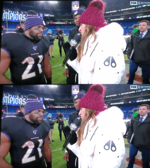 Mark Ingram: RB, hype man, sideline reporter #NYJvsBAL  https://t.co/S2iXfEULN6: FOX NErwon  ATPIOAS  Or00  CHA  M&TBank  RAVIINS  27   FOX VETWON  Aiti  MPJOAS  M&TBank  ANGTH CH  RAVIINS  21 Mark Ingram: RB, hype man, sideline reporter #NYJvsBAL  https://t.co/S2iXfEULN6