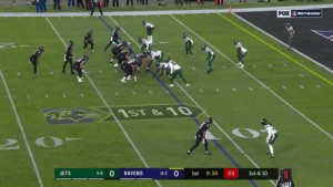 With this run, Lamar Jackson now owns the single-season record for rushing yards by a QB! @Lj_era8 #RavensFlock  📺: #NYJvsBAL on @NFLNetwork | @NFLonFOX | @PrimeVideo How to watch: https://t.co/I6INVckndX https://t.co/8KXRfGZqPq: FOX NETWORK  1ST & 10  11-2 O  JETS  1st  8:38  03  5-8  RAVENS  1st & 10 With this run, Lamar Jackson now owns the single-season record for rushing yards by a QB! @Lj_era8 #RavensFlock  📺: #NYJvsBAL on @NFLNetwork | @NFLonFOX | @PrimeVideo How to watch: https://t.co/I6INVckndX https://t.co/8KXRfGZqPq