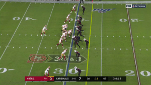 George Kittle: UNSTOPPABLE 😱   @gkittle46 | #GoNiners  📺: #SFvsAZ on @NFLNetwork | @NFLonFOX | @PrimeVideo How to watch: https://t.co/I6INVckndX https://t.co/RL3TnEyqMz: FOX NETWORK  3RD &3  2  7-0 0  7  49ERS  CARDINALS  09  3rd & 3  3-4-1  1st  14 George Kittle: UNSTOPPABLE 😱   @gkittle46 | #GoNiners  📺: #SFvsAZ on @NFLNetwork | @NFLonFOX | @PrimeVideo How to watch: https://t.co/I6INVckndX https://t.co/RL3TnEyqMz
