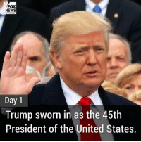 Memes, Fox News, and 🤖: FOX  NEWS  Day 1  Trump sworn in as the 45th  President of the United States. PART 1: Here's what President DonaldTrump has accomplished during his first week in office.