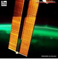 Memes, Nasa, and News: FOX  NEWS  Internatio  ace Station  ESA/NASA via Storyful Spectacular timelapse video captured an aurora and a flash of lightning from space.