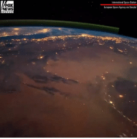 New timelapse footage taken by an Italian astronaut aboard the International Space Station shows twinkling city lights as well as several thunderstorms seen from miles above the Earth's surface.: FOX  NEWS  International Space Station  European Space Agency via Storyful New timelapse footage taken by an Italian astronaut aboard the International Space Station shows twinkling city lights as well as several thunderstorms seen from miles above the Earth's surface.