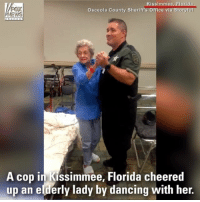Osceola Sheriff's Deputy Froelich saved the day in an unexpected way - dancing with an elderly woman who was worried about Irma.: FOX  NEWS  Kissimmee, Florida  a Storyful  Osceola County Sheriff's Office vi  A cop in Kissimmee, Florida cheered  up an elderly lady by dancing with her. Osceola Sheriff's Deputy Froelich saved the day in an unexpected way - dancing with an elderly woman who was worried about Irma.