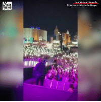 America, God, and Memes: FOX  NEWS  Las Vegas, Nevada  Courtesy: Michelle Meyer Americans United: Not long before the horrific LasVegas shooting took place, concertgoers came together and proudly sang 'God Bless America' led by Big & Rich.