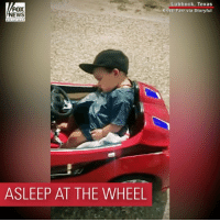 Memes, News, and Parents: FOX  NEWS  Lubbock, Texas  Kristi Farr via Storyful  ASLEEP AT THE WHEEL POWER NAP: A little boy from Texas fell asleep behind the wheel of his toy car. His parents were supervising, and no one was hurt.