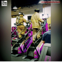 Two Georgia firefighters held their own 9-11 memorial climb at a local gym Tuesday in honor of the heroes who died in the terror attacks.: FOX  NEWS  ner Robins, Georgia  enee Farmer via Storyful Two Georgia firefighters held their own 9-11 memorial climb at a local gym Tuesday in honor of the heroes who died in the terror attacks.