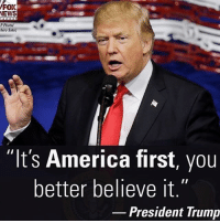 "America, Memes, and News: FOX  NEWS  P Photo/  hiro Sato)  ""It's America first, you  better believe it  President Trump America first!🇺🇸🇺🇸🇺🇸 liberal maga conservative constitution like follow presidenttrump resist stupidliberals merica america stupiddemocrats donaldtrump trump2016 patriot trump yeeyee presidentdonaldtrump draintheswamp makeamericagreatagain trumptrain triggered Partners --------------------- @too_savage_for_democrats🐍 @raised_right_🐘 @conservativemovement🎯 @millennial_republicans🇺🇸 @conservative.nation1776😎 @floridaconservatives🌴"