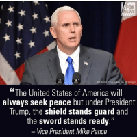 America, Funny, and Instagram: FOX  NEWS  The Yomiuri Shimbun via AP Images  The United States of America will  always seek peace but under President  Trump, the shield stands guard and  the word stands ready  Vice President Mike Pence Based Pence. This was an amazing speech. 🔴www.TooSavageForDemocrats.com🔴 JOINT INSTAGRAM: @rightwingsavages Partners: 🇺🇸👍: @The_Typical_Liberal 🇺🇸💪@theunapologeticpatriot 🇺🇸 @DylansDailyShow 🇺🇸 @keepamerica.usa 🇺🇸@Raised_Right_ 🇺🇸@conservative.female 😈 @too_savage_for_liberals 🇺🇸 @Conservative.American DonaldTrump Trump 2A MakeAmericaGreatAgain Conservative Republican Liberal Democrat Ccw247 MAGA Politics LiberalLogic Savage TooSavageForDemocrats Instagram Merica America PresidentTrump Funny True SecondAmendment