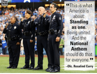 "On ""Fox & Friends,"" LAPD Ofc. Rosalind Curry, who sang the National Anthem before Game 7 of the World Series, spoke with pride about American unity.: FOX  NEWS  This is what  America is  about:  Standing  as one.  Being united  And the  National  Anthem  should do that  for everyone.""  -0fc. Rosalind Curry  (3 On ""Fox & Friends,"" LAPD Ofc. Rosalind Curry, who sang the National Anthem before Game 7 of the World Series, spoke with pride about American unity."