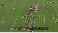 Memes, Nfl, and Washington Redskins: FOX NFL  1  1ST & 10  PACKERS 1-01 O REDSKINS 11 71st 8:18 16 1st & 10 120 yards and 2 TDs.  @AdrianPeterson had a big game in the @Redskins win! #GBvsWAS #HTTR https://t.co/LKLnl21EnC