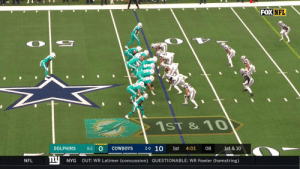.@MiamiDolphins FLEA FLICKER! @josh3rosen #MIAvsDAL #FinsUp  📺: FOX 📱: NFL app // Yahoo Sports app Watch FREE on mobile: https://t.co/qnNxI5gZ8j https://t.co/1aZAMV0TXs: FOX NFL  1ST &10  2-0 10  COWBOYS  1st & 10  DOLPHINS  0-2  1st  4:01  08  ny  NYG  OUT: WR Latimer (concussion) QUESTIONABLE: WR Fowler (hamstring)  NFL .@MiamiDolphins FLEA FLICKER! @josh3rosen #MIAvsDAL #FinsUp  📺: FOX 📱: NFL app // Yahoo Sports app Watch FREE on mobile: https://t.co/qnNxI5gZ8j https://t.co/1aZAMV0TXs