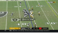 Concussion, Memes, and Nfl: FOX  NFL  2ND & 1  STEELERS 74-1 14 RAIDERS 2-10 10 3rd 4:47 04 2nd & 10  NFL  AR  BAL (7-6) e in OT (left leg)  DE Urban: Left game in 1st quarter (stinger, concussion ev THIS THROW! @derekcarrqb 🎯🎯🎯  📺: FOX #RaiderNation https://t.co/lLCXra7zjy