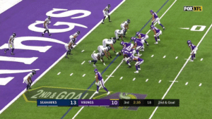 Sloter Season.  @KyleSloter's TD pass to @brandon_zylstra gives the @Vikings the lead!  📺: #SEAvsMIN on FOX Watch on mobile: https://t.co/uLZtwjkGlI https://t.co/GfDiW7r7h5: FOX NFL  2ND&GOAL  13  10  SEAHAWKS  3rd  VIKINGS  2:35  18  2nd & Goal Sloter Season.  @KyleSloter's TD pass to @brandon_zylstra gives the @Vikings the lead!  📺: #SEAvsMIN on FOX Watch on mobile: https://t.co/uLZtwjkGlI https://t.co/GfDiW7r7h5