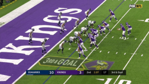 Memes, Nfl, and Goal: FOX NFL  3RD&GOAL  10  3  SEAHAWKS  VIKINGS  2nd 1:07  17  3rd & Goal Left wide open for the TD: @Vikings rookie TE Irv Smith, Jr! @swervinirvin_  📺: #SEAvsMIN on FOX Watch on mobile: https://t.co/uLZtwjkGlI https://t.co/BL19MEiaiW