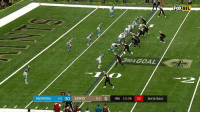 Memes, Nfl, and New Orleans Saints: FOX NFL  3RD& GOAL  2  PANTHERS 6-930 SAINTS  13-2 0 4th 13:36 03 3rd & Goal Teddy Tossin' TDs  📺: FOX #GoSaints https://t.co/UXzgMyYRLM