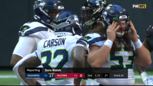 This is magical 😳 @DangeRussWilson @TDLockett12 #SEAvsATL  📺: FOX 📱: NFL app // Yahoo Sports app Watch free on mobile: https://t.co/a16R5wPShJ https://t.co/bR8mSnUXH8: FOX NFL  EATTL  CARSON  Reporting  Sara Walsh  5-2 17  0  SEAHAWKS  FALCONS  2nd  1:33  27  2nd & 10  1-6 This is magical 😳 @DangeRussWilson @TDLockett12 #SEAvsATL  📺: FOX 📱: NFL app // Yahoo Sports app Watch free on mobile: https://t.co/a16R5wPShJ https://t.co/bR8mSnUXH8