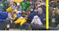 Nfl, New Orleans Saints, and Packers: FOX  NFL  SAINTS  3-2 0 PACKERS 42 6 1st 13:00 36 This lady in the yellow poncho got her money's worth https://t.co/JfbGjPGWTj
