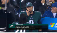 "Philadelphia Eagles, Nfl, and Sports: FOX  NFL  SCORING DRIVE  8 PLAYS 75 YARDS 4:55  SMITH 41 YARD TD CATCH  Su  EAGLES: 31 UNANSWERED POINTS ""Tell Carson to grab a Snickers, cause he's gonna be on that bench for quite a while."" #MINvsPHI https://t.co/eJburB6SfE"