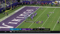 Memes, Nfl, and Goal: FOX NFL  sr  LIONS 34 0 VIKINGS 431 0 1st 10:01 11 1st & Goal  NFL  DEN  OUT: WR Hamilton (knee), LB Marshall (knee), CB Roby (ankle), S Stewart (neck) TOUCHDOWNNNNNNNN! @vikings   📺: FOX #SKOL https://t.co/myp4O8EwZl