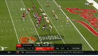 Doug, Jameis Winston, and Martin: FOX  NFL  ST& GOAL  CLE Current Drive Plays 11 Yards 65 6:59  PACKERS 6-6 7 BROWNS 0-12 7 2nd 5:16 07 1st & Goal  NFL  A  TB Jameis Winston: 8/10, 102 yds Doug Martin: 6 rush, 18 yds, 1 TD Mike Evans: 2 UNTOUCHED!  @DukeJohnson_8 is in for SIX! #Browns https://t.co/Eyp8aOUpaq