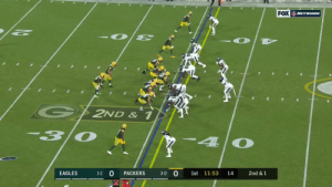 .@AaronRodgers12 floats it to @tae15adams for a gain of 58 yards to put the @packers in the red zone! #GoPackGo  #PHIvsGB on @NFLNetwork | @NFLonFOX | @PrimeVideo How to watch:https://t.co/32PKxts362 https://t.co/OqMlm1KCZj: FOX WETWORK  G2ND & 1  30  4  3-0 0  EAGLES  PACKERS  1st 11:53  14  2nd &1  1-2 .@AaronRodgers12 floats it to @tae15adams for a gain of 58 yards to put the @packers in the red zone! #GoPackGo  #PHIvsGB on @NFLNetwork | @NFLonFOX | @PrimeVideo How to watch:https://t.co/32PKxts362 https://t.co/OqMlm1KCZj