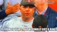 Congrats Carlos Beltran! #WorldSeries https://t.co/4JRNKdCEXi: FOX WORLD SERIES  HOU WINS SERIES  IT TOOK 20 YEARS,BUT HE FINALLY GOTARING! Congrats Carlos Beltran! #WorldSeries https://t.co/4JRNKdCEXi