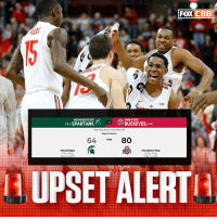 Nobody's safe... not even No. 1 Sparty https://t.co/ps4IyWrDWG: FOXCBEB  MICHIGAN STATE  OHIO STATE  : BUCKEYES (124)  Value City Arena Columbus, CH  Regular Season  64 Hinal 80  Mles Bridges  17 Pts. 7 Reb  Kelta Bates-Diop  2 Pts. 7Reb  14 UPSET ALERT! Nobody's safe... not even No. 1 Sparty https://t.co/ps4IyWrDWG