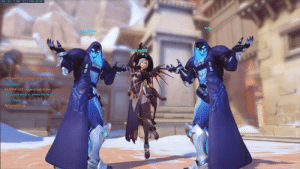 "Disney, Hello, and Tumblr: FPS 27  TMP. 0Cİ PNG. 207 MS  PH  Phin switched to Reaper (was Junkrat  hin. Hello!  ELIMINATED]: reaper is tank buster  inchester wants to defend the objective  in: Thanks!  [Winchester: 99 silly-overwatch-stuff: ""Mercy looks like a Disney villain with two identical comic relief henchmen""  By u/TheRedstoneBlaze"