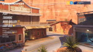 otherwindow:  otherwindow:Ashe just left my menu screen. Bob!!: FPS: 56  ERWATCH  69 10  1.30.0.1-52680  TRAINING  HERO GALLERY  entin  HIGHLIGHTS  SOCIAL  CAREER PROFILE  OPTIONS  EXIT GAME  0  PRESS ENTER TO CHAT otherwindow:  otherwindow:Ashe just left my menu screen. Bob!!