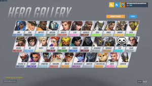 Chat, Kaplan, and Mercy: FPS: 999999  Jeff Kaplan from the overwatch team  69 B  HERO GALLERY  WHAT'S NEW?  FILTER  LOCIO  D.VA  JUNKRAT  91/104  ASHE  BRIGITTE  GENJI  84/100  HANZO  ANA  BAPTISTE  BASTION  DOOMFIST  91/106  85/104  85/104  86/102  61/81  58/76  79/97  80/93  79/97  REAPER  MERCY  MCCREE  ME  MOIRA  ORISA  PHARAH  REINHARDT  ROADHOG  77/98  SANS  SIGMA  82/104  45/58  87/103  81/99  86/97  79/101  82/101  89/103  81/102  45/58  TORBIORN  SOMBRA  SOLDIER: 76  SYMMETRA  TRACER  WIDOWMAKER  WINSTON  WRECKING BALL  ZARYA  ZENYATTA  89/101  82/98  83/107  78/100  88/103  77/98  79/102  79/99  72/91  82/105  1 friend playing Overwatch.  PRESS ENTER TO CHAT  BACK  ESCAPE No way