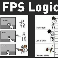 """Counter Strike, Destiny, and Halo: FPS Logic  retarded  Battlefield  realistic  Cal of Duty  doom  Counter Strike DOUBLE TAP😀😂❤️• • 😄Follow 👉@Gamer.p0sts👈 for more content😄• • Sponsored by @moon.hq 🚨use promo code: """"Vaiazys"""" 🚨 For 5% off your purchase • ❤Double-tap & tag a friend❤ • • callofduty battlefield halo xbox battlefield1 cod mwr iw gamingmemes battlefield4 playstation ps4 gaming pc overwatch destiny memes instagram videogames blackops2 rainbowsixsiege pcgaming xboxone codmemes gta gtav csgo bo2"""