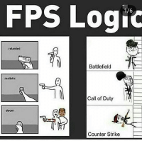 Counter Strike, Destiny, and Halo: FPS Logic  retarded  Battlefield  realistic  Call of Duty  doom  Counter Strike DOUBLE TAP!❤SWIPE LEFT!👈 Follow @gamiing.memes (me) for more content!👍 - Via: tagged - Partners 🔥@gamiing.nation 💪@get.noscoped 😎@gamer.p0sts 🤓@jaxramse - Use GAMIINGMEMES 👍😎 - ❌Tags (ignore)❌ callofduty battlefield halo xbox battlefield1 cod mwr iw gamingmemes battlefield playstation ps4 gaming pc overwatch destiny memes instagram videogames blackops2 rainbowsixsiege pcgaming xboxone codmemes gta gtav csgo