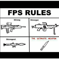 The ultimate weapon 😂😂 . . . . ps4 ps3 ps2 xbox360 playstation playstation4 counterstrike cod callofduty callofdutyblackops3 pokemongo callofdutyghost battle battlefield1 battlefieldhardline gamememes gamer gamers gamingmemes gamestop codzombies battlefield3 battlefield infinitewarfare gta: FPS RULES  Strong  Stronger  THE ULTIMATE WEAPON  Strongest The ultimate weapon 😂😂 . . . . ps4 ps3 ps2 xbox360 playstation playstation4 counterstrike cod callofduty callofdutyblackops3 pokemongo callofdutyghost battle battlefield1 battlefieldhardline gamememes gamer gamers gamingmemes gamestop codzombies battlefield3 battlefield infinitewarfare gta