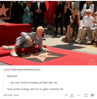"""Fucking Nerd: FRAME  Concernedressidentofbakerstreet:  hippostin  the way Portia is looking at Ellen kills me  """"look at this fucking nerd im so glad i married her  608,608 notes  SPO Kec"""