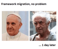 Easy, Day, and Framework: Framework migration, no problem  1 day later Migrating could be easy if you just increment the version number