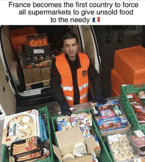 Great to see out society as a whole, progressing 👏🏻👏🏻👏🏻👏🏻: France becomes the first country to force  all supermarkets to give unsold food  to the needy II Great to see out society as a whole, progressing 👏🏻👏🏻👏🏻👏🏻