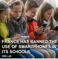"Computers, Internet, and Memes: FRANCE HAS BANNED THE  USE OF SMARTPHONES IN  TS SCHOOLS  @TECH I by guff (via @tech) Just recently, lawmakers decided that students under the age of 15 must leave their cellphones at home, or at least have them turned off during the entire school day. (For high schools, they will be allowed themselves to decide whether they implement the ban in their classrooms.) The measure prohibits the use of tablets, computers, and other internet-connected devices as well. This past December, the French government announced the ban as an attempt to send a ""public health message,"" as officials believed kids shouldn't be spending as much time as they do on their devices. WHAT DO YOU THINK? 💭 science tech smartphones schools france"