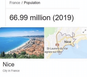 youlovetoseeit:  hehe: France Population  66.99 million (2019)  71  Nice  A8  St-Laurent-du Var  agnes-sur-Mer  Nice  City in France youlovetoseeit:  hehe
