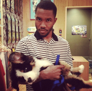 Frank Ocean, Good, and Ocean: Frank Ocean and his good boye Everest, who he credited as Executive Producer on his Grammy-winning Channel Orange album.