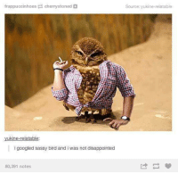 Sassy Bird: frappuccinhoes  Cherry stoned  ukine relatable  i googled sassy bird and i was not disappointed  80,391 notes  Source: yukine relatable